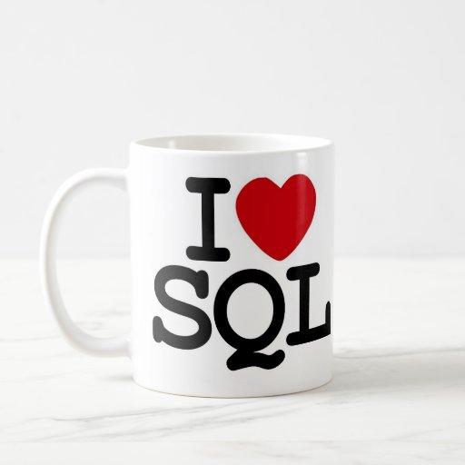 I_heart_SQL Basic White Mug