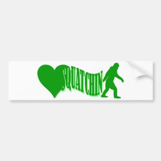 I heart squatchin bumper sticker