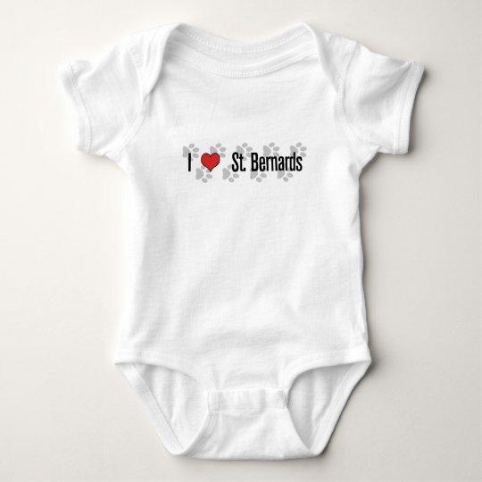 I (heart) St. Bernards Baby Bodysuit