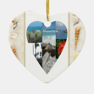 I Heart St. Maarten Ornament
