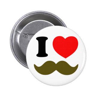 I Heart Stache 6 Cm Round Badge