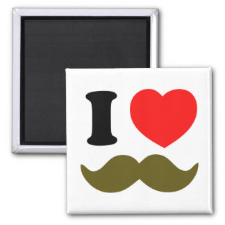 I Heart Stache Square Magnet