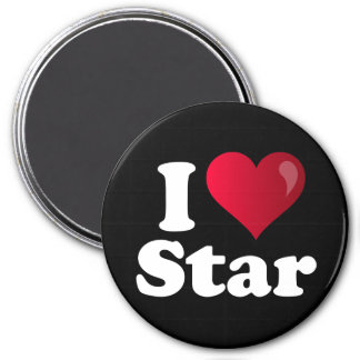 I Heart Star Parker 7.5 Cm Round Magnet