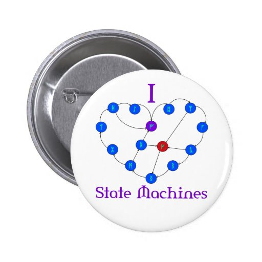 I Heart State Machines Buttons