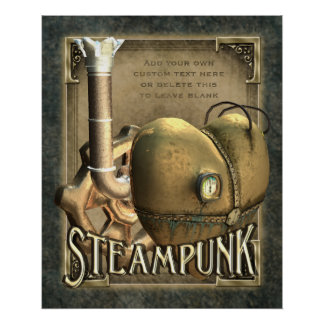 I Heart Steampunk Custom Poster