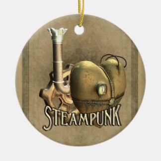 I Heart Steampunk Personalized Ornament