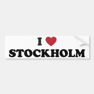 I Heart Stockholm Sweden Bumper Sticker