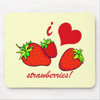I heart strawberries mousepad