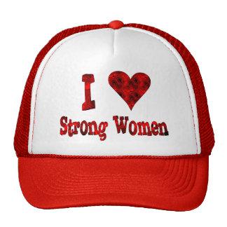 I Heart Strong Women Trucker Hat