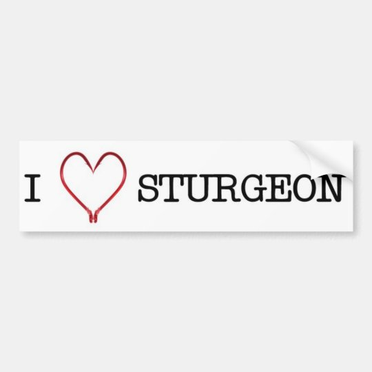 I [Heart] Sturgeon Bumper Sticker