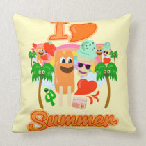 I Heart Summer Fun Cushion
