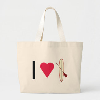 I Heart SUP Large Tote Bag
