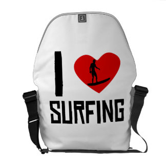 I Heart Surfing Courier Bags