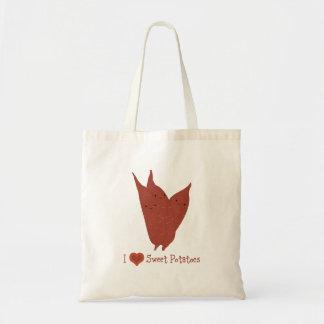 I heart sweet potatoes budget tote bag