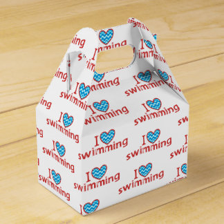 I heart Swimming for Swimmers Favour Boxes