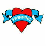 I heart swimming tattoo photo sculptures