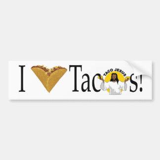 I (heart) Tacos Car Bumper Sticker