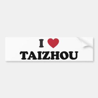 I Heart Taizhou China Bumper Sticker