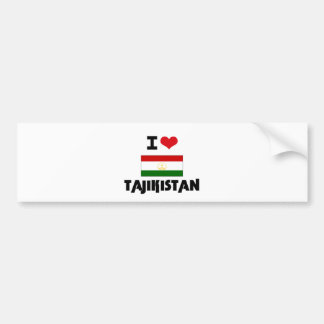 I HEART TAJIKISTAN BUMPER STICKER