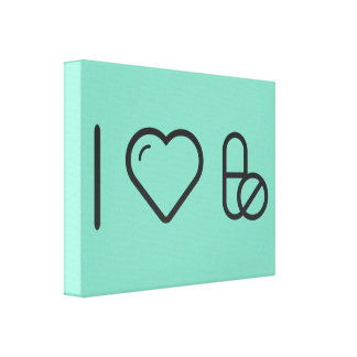 I Heart Taking Medicines Gallery Wrapped Canvas
