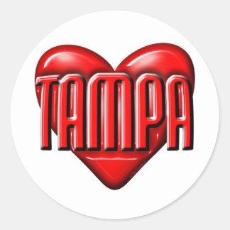 I Heart Tampa Round Sticker