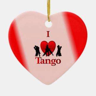 I Heart Tango Christmas Ornament