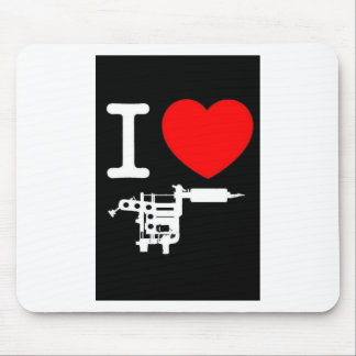 i heart tattoo products mouse mat