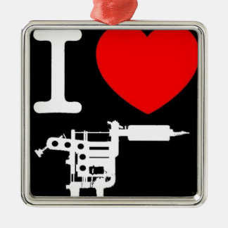 i heart tattoo products Silver-Colored square decoration