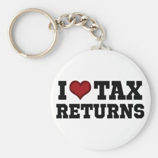 I Heart Tax Returns Basic Round Button Key Ring