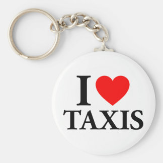 I Heart Taxis Basic Round Button Key Ring
