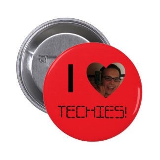 """""""I Heart Techies!"""" Button"""