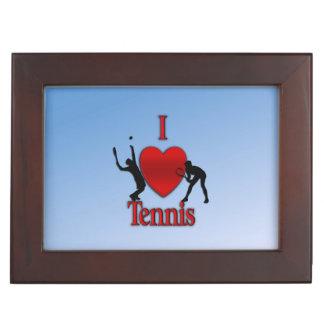 I Heart Tennis Blue Skies Keepsake Box