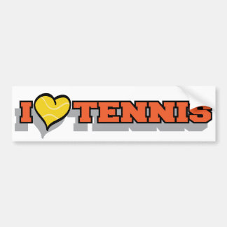I Heart Tennis Bumper Sticker