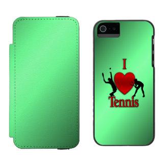 I Heart Tennis Green Glow Incipio Watson™ iPhone 5 Wallet Case