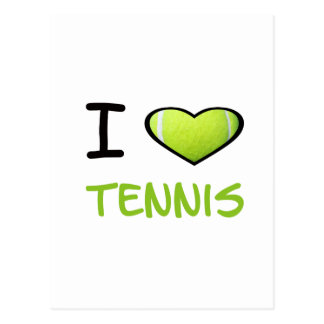 I Heart Tennis Post Cards