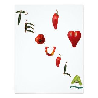 I Heart Tequila 11 Cm X 14 Cm Invitation Card