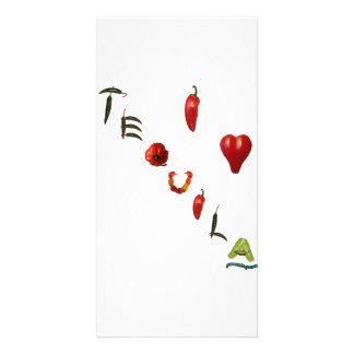 I Heart Tequila Customized Photo Card