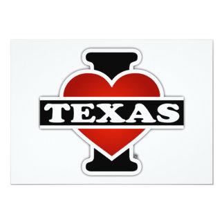 I Heart Texas 13 Cm X 18 Cm Invitation Card