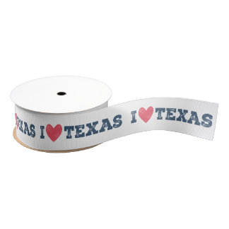 I Heart Texas Ribbon Grosgrain Ribbon