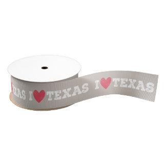 I Heart Texas Ribbon - White Letters Grosgrain Ribbon