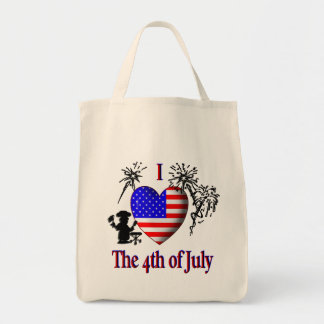 I Heart the 4th of July Tote Bag