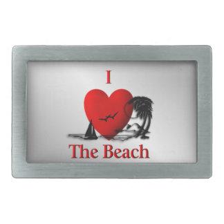 I Heart The Beach Belt Buckles