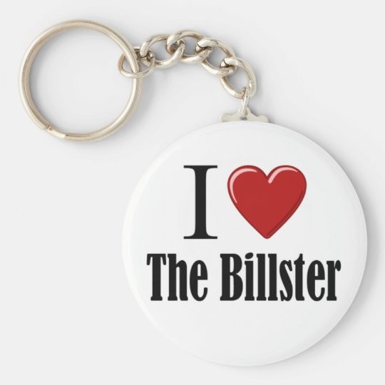 I Heart The Billster Basic Round Button Key Ring