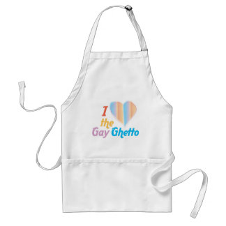 I heart the Gay Ghetto Adult Apron