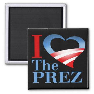 I Heart The PREZ Magnet (black)