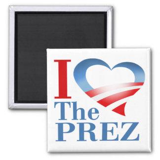 I Heart The PREZ Magnet (white)