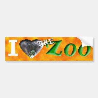 I (Heart) the Zoo (African Elephant) Bumper Sticker