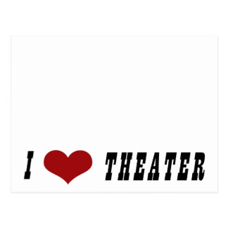 I Heart Theater Autograph Collectors Card Postcard
