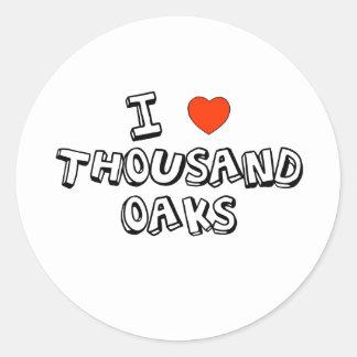 I Heart Thousand Oaks Round Sticker