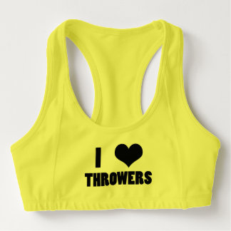I Heart Throwers, Shot Put Discus Sports Bra